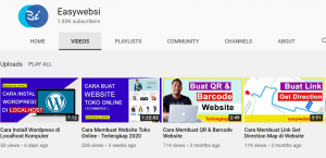 channel youtube easywebsi