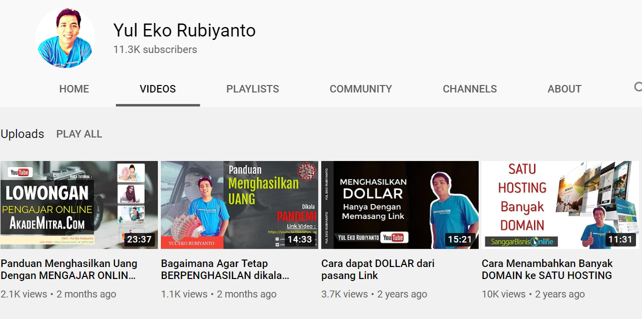channel youtube yul eko rubiyanto